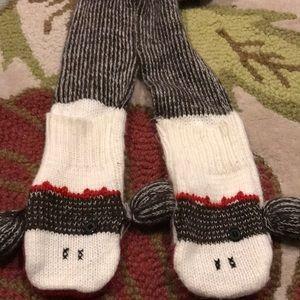 Sock monkey scarf
